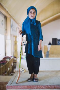 Jessica Fullford-Dobson's Skate Girl image, awarded second place in the Taylor Wessing Photographic Portrait Prize 2014, features a seven-year-old Afghan girl at a skate school in Kabul