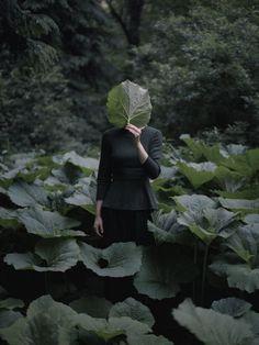 Ekaterina Grigorleva faceless portrait in nature
