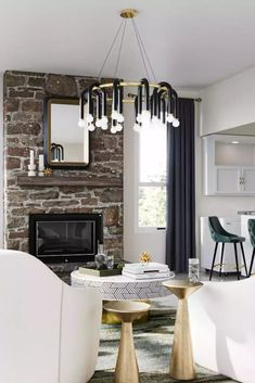 View this Modern, Glam living room design from Havenly interior designer Hagar. Shop products, explore rooms, and even get started designing your own space. Glam Living Room, Design Your Own, Living Room Designs, Ceiling Lights, Interior Design, Modern, Kitchen, Inspiration, Home Decor