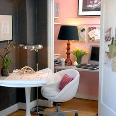 Eclectic Home Office Kids Work Space Design, Pictures, Remodel, Decor and Ideas