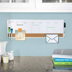 """This 7.5"""" x 23"""" magnetic dry erase weekly planner combo board is framed in aluminum and provides the perfect surface for taking notes and keeping track of weekly events."""