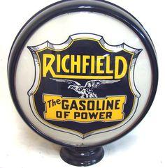 Richfield (The Gasoline of Power) gas pump globe