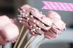 Chocolate heart cake pops By esmereldalla.Blogspot