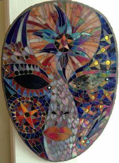 Mosaic night sky mask by Freshwater Mosaics