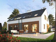 Projekt domu Eco 16 - dwulokalowy 224,44 m2 - koszt budowy - EXTRADOM Home Fashion, Mansions, House Styles, Outdoor Decor, Home Decor, Dots, Decoration Home, Manor Houses, Room Decor