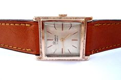 388609551203 Vintage Watch Swiss RENIS Square Art Deco 1950c Men´s Working Case Micron  Gold