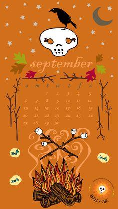 Happy September! Enjoy a FREE Skelly Chic download for your Smartphone & desktop! www.skellychic.com