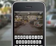 An app that lets you type and see where you're going at the same time! oh my goodness!!