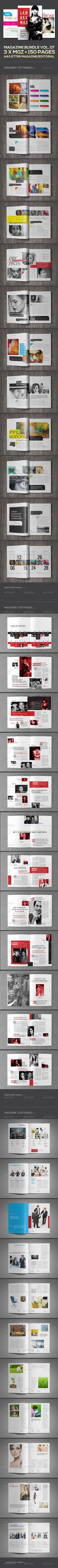 3 X Magazine Collection (Mgz Bundle Vol. 07)  #GraphicRiver        Click image below for detail preview!    Other Bundle Collection :                           Created: 5 December 13                    Graphics Files Included:   InDesign INDD                   Layered:   Yes                   Minimum Adobe CS Version:   CS4                   Print Dimensions:   21x29.7             Tags      bundle #corporate #decor #design #elegant #fashion #flexible #fresh #home #indesign magazine #interior…