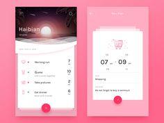 Travel Plan interface by whitton #Design Popular #Dribbble #shots