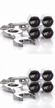 Automobile Motorcycle Accessories Car Wheel Tire Valve Caps ///M Badge Styling Air Tyre Stem Cover Spanner Key Ring Gift