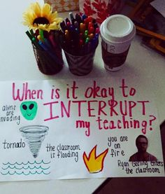 When it's ok to interrupt :) Small group anchor chart