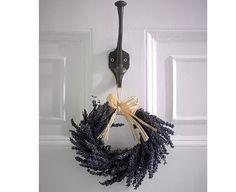 lavender wreath, white door Lavender Wreath, White Doors, Wreaths, Halloween, Crafts, Diy, Clever, Gardening, Home Decor