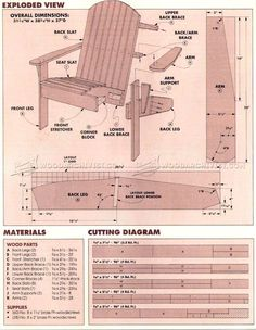 Adirondack Chair Plan - Outdoor Furniture Plans