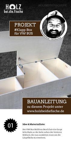 Projekt Klapp-Box für VW Bus Multivan Beach von HOLZbeidiefische. Eine Projektbeschreibung findet Ihr auf www.holzbeidiefische.de