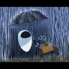 Wall-e and Eve concept art. Still one of my favorite Pixars.