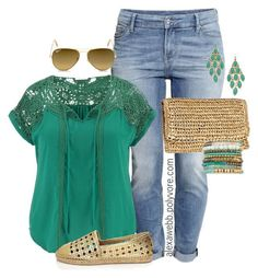 Plus Size - Summer Casual by alexawebb on Polyvore featuring maurices, H&M, Kate Spade, Lacey Ryan, Blu Bijoux and Ray-Ban
