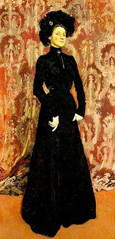 Portrait de l'épouse de l'artiste, par Jozef Mehoffer