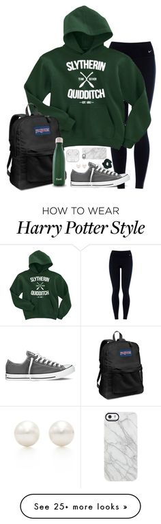 """""""IM GOING TO HARRY POTTER WORLD IN FLORIDA FOR SPRING BREAK"""" by mlainezrubi on Polyvore featuring NIKE, Converse, JanSport, Tiffany & Co., Uncommon and Topshop"""