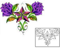 Star Tattoos DQF-00138 Created by Squid