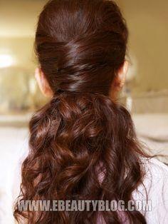 elegance half updo hairstyle tutorial...