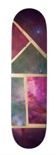Galaxy Mosaic Custom Skateboard Deck