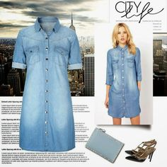 House of Sienna: Styling Denim Shirt Dress