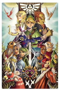 Tribute to Legend of Zelda by Chrissie Zullo