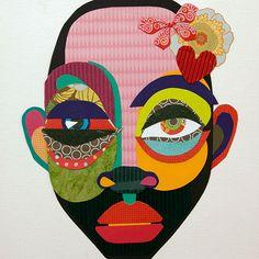 Art Du Collage, Collage Portrait, Portraits, Digital Portrait, Collage Artists, 6th Grade Art, School Art Projects, Wow Art, Art Lesson Plans