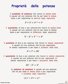 Paradiso delle mappe: Matematica Study Methods, Study Tips, Math Tutor, Teaching Math, Maths, Algebra, Italian Lessons, Simple Math, School Play