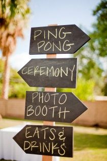 sub in beer pong for ping pong and you've got my kind of wedding