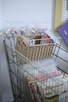 Fabulous Feature: Shopping Cart from reader Staci | The Potter's Place www.thepotters-place.com #shoppingcart #cart