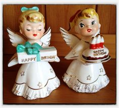 A couple of little Norcrest birthday angels