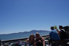 Paraparaumu Beach Bar  Me with my sister-in-law, Judith