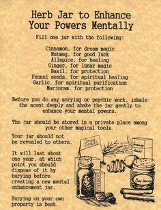 Herb jar to increase ....