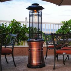 A collapsible outdoor heater, but unlike a traditional seasonal patio heater, the Lava Heat Ember can be utilized all year-long in the comfort of your outdoor environment.