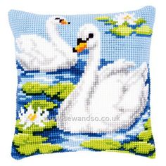 Swans Cushion Front
