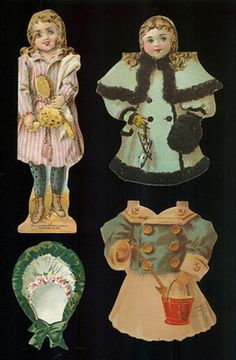 McLaughlin's XXXX Coffee 1894 Victorian Double Sided Paper Doll + 2 Outfits (12/09/2012)