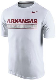 Dominate the court in this men s Arkansas Razorbacks basketball tee from  Nike… d8f69a6fc