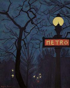 "1947: Augustin Rouart's ""Metro dan la Nuit"""
