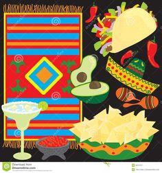 Mexican Fiesta Borders Clip Art Free - Bing Images | mexican ...
