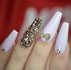 Nail Art Ideas For Coffin Nails - Bling as in Rhinestones - Easy, Step-By-Step Design For Coffin Nails, Including Grey, Matte Black, And Great Bling For Instagram Ideas. Includes Everything From Kylie Jenner Ideas To Nailart For Short Nails, Long Nails, And Beautiful Shape And Colour Like Pink. Polish For Jade, Glitter, And Even Negative Space - https://www.thegoddess.com/nail-ideas-coffin-nails