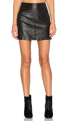BB Dakota Ian Leather Mini Skirt in Black | REVOLVE