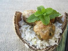An Odd Bit Recipe: Chicken And Mint Meatballs With Coconut Rice - A Little Bit of Spain in Iowa