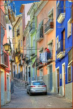 Coloured buildings italy www.madblossom.com.au