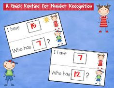 Kindergarten Crayons: A Quick Routine for Number Recognition