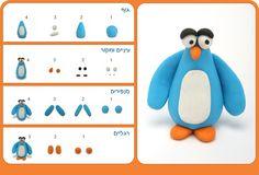 tutorial - שלב אחר שלב. יצירת פינגווין מפלסטלינה ( צילום: גיא מילר )