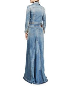 04c61623b684e NMF17_-6UZZ Blouse And Skirt, Denim Skirt, Long Sleeve Maxi, Roberto Cavalli