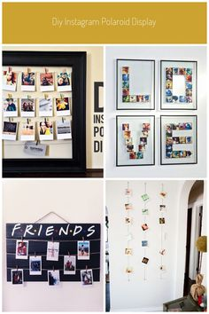 DIY Instagram Polaroid Display |Persnickety Blog #polaroid display DIY Instagram Polaroid Display • Persnickety Prints Fabric Corkboard, Instamatic Camera, Fujifilm Instax Mini 7s, Polaroid Display, Photo Pin, Friends Tv Show, Black And White Pictures, Photo Displays, Taking Pictures