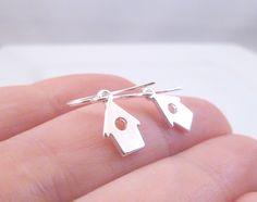 Tiny Birdhouse Earrings